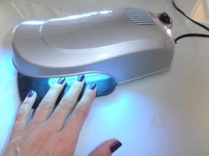 Handliches UV Lichthärtungsgerät 9W in silber