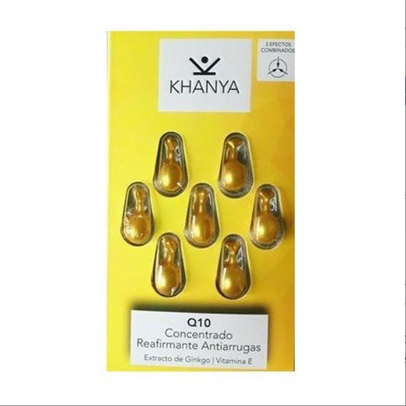 Anti-Falten Gesichts-Perlen von Khanya - Konzentrat für Gesicht und Augen mit Q10, gegen Hautalterung