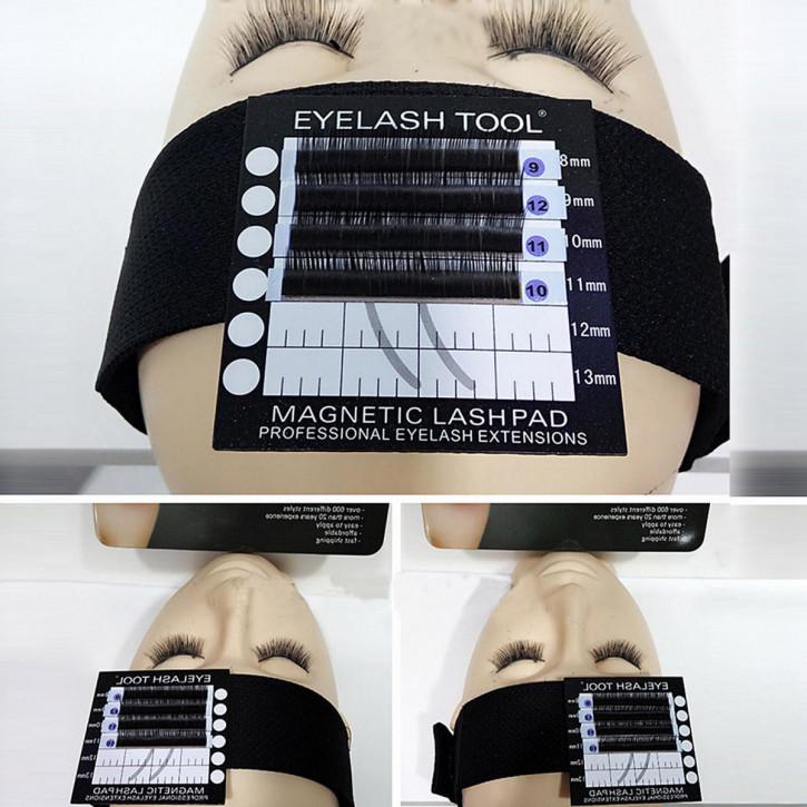 Stirnband mit magnetischem Wimpernpad für Wimpernverlängerung