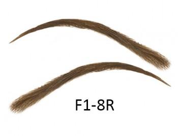 Künstliche, semi-permanente Augenbrauen aus 100 % Echthaar zum Aufkleben - handgemacht, F1-8R