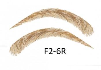 Künstliche, semi-permanente Augenbrauen aus 100 % Echthaar zum Aufkleben - handgemacht, F2-6R
