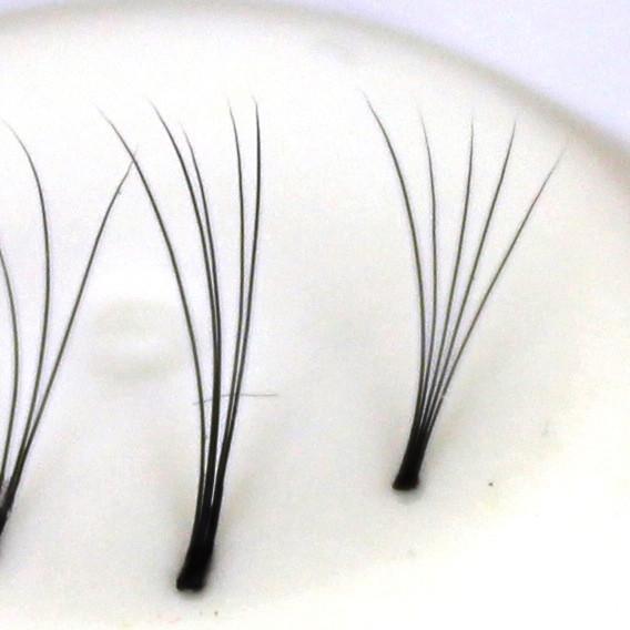 120 Flare Lashes 5D, ultraleicht, knotenfrei | 0,07 mm dick | 8—13 mm lang | C-Curl