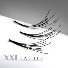 200 Flare Lashes mit feinem Knoten, im preiswerten Nachfüllbeutel in den Längen 6-15 mm