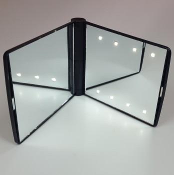 Hochwertiger Taschenspiegel mit integrierter LED Beleuchtung