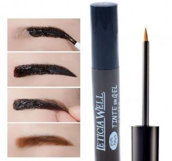 Augenbrauen-Gel Tönung, semipermanent, mit Peel Off Effekt - schwarz