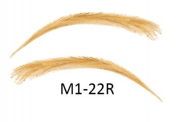 Künstliche, semi-permanente Augenbrauen aus 100 % Echthaar zum Aufkleben - handgemacht, M1-22R