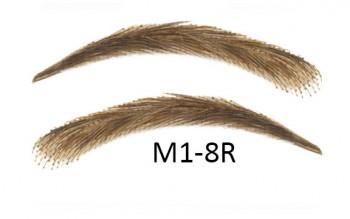Künstliche, semi-permanente Augenbrauen aus 100 % Echthaar zum Aufkleben - handgemacht, M1-8R