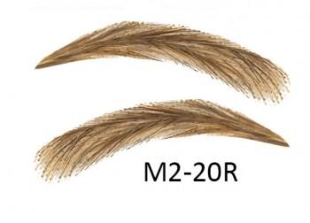Künstliche, semi-permanente Augenbrauen aus 100 % Echthaar zum Aufkleben - handgemacht, M2-20R