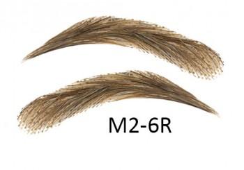 Künstliche, semi-permanente Augenbrauen aus 100 % Echthaar zum Aufkleben - handgemacht, M2-6R