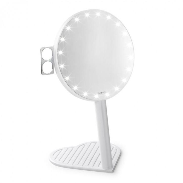 RIKI GRACEFUL 7x Vergrößerungsspiegel mit LED-Beleuchtung und dreistufigem Dimmer, ein neues Produkt in der Glamcor-Edition