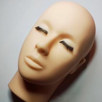 Mannequin-Kopf, mit und ohne Wimpern