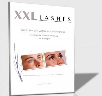 Trainings-Handbuch und Anleitung für semi permanente Wimpern-Verlängerungen - deutsch, als PDF Datei