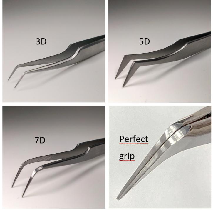 xD Volumen Pinzetten für Russische Volumen Technik, 3D, 5D oder 7D