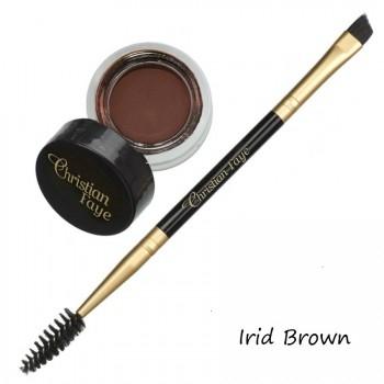 Semi permanentes Augenbrauenwachs - in 4 Farben - inkl. zweiseitigem Bürstchen - irid brown
