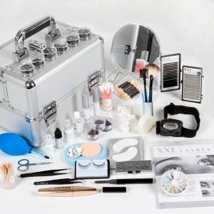 XXL Lashes Luxus Kit für Wimpernverlängerungen und Lash-Stylisten mit hochwertigen Produkten, Wimpernkleber, Remover....