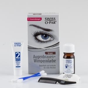 Augenbrauen- und Wimpern-Farbe - braun