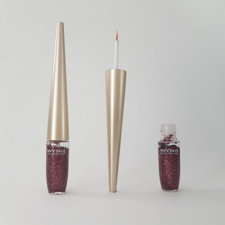Glitter Eyeliner für das festliche Schimmer-Make-up – kupfer