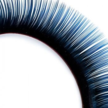 Mink-Lashes, 2-farbig, schwarz/blau, 10 mm