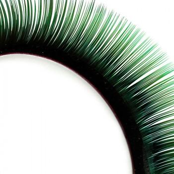 Mink-Lashes, 2-farbig, schwarz/grün, 8 mm