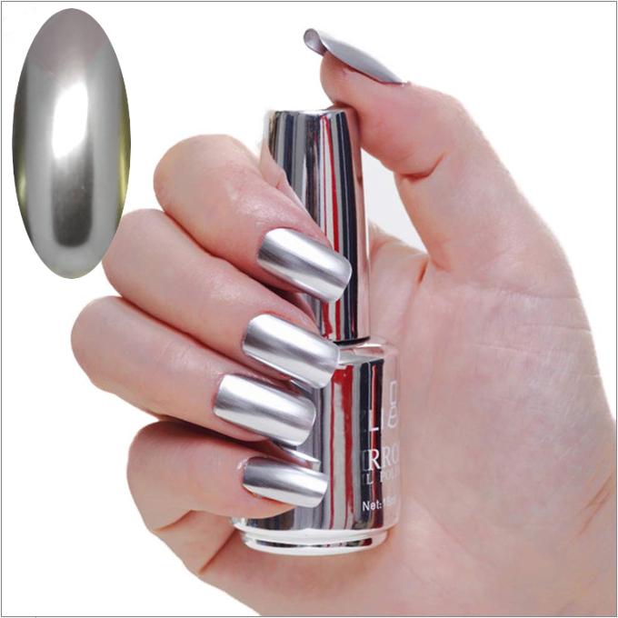 Spiegeleffekt Nagellack, Metallic-Nagellack