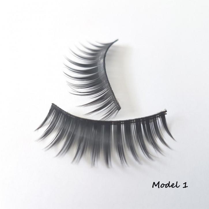 1 Set Bandwimpern aus feinem Seidensynthek - Model 01