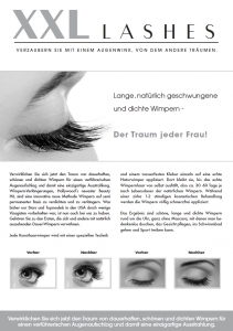 """100 Stk. Promotion Flyer A5 - """"Auge"""" - deutsch, mit eigener Adresse"""