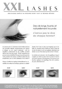 """100 Stk. Promotion Flyer A5 - """"Auge"""" - französisch, mit eigener Adresse,"""