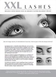 """100 Stk. Promotion Flyer A5 - """"Gesicht"""" - französisch, mit eigener Adresse,"""