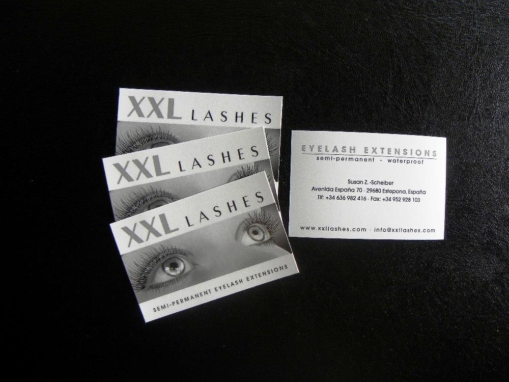 1000 Xxl Lashes Visitenkarten Mit Ihrem Namen
