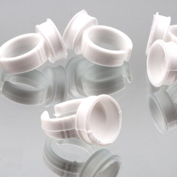 10 einweg klebstoff ringe wimpern extensions kleber ringe. Black Bedroom Furniture Sets. Home Design Ideas