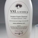 XXL Lashes Foam Cleanser, Wimpernshampoo, öl- und alkoholfrei Reinigungsschaum Wimpern, 200 ml Salongröße