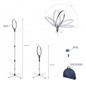 AURA Ringlampe, LED Tageslicht mit Smartphone Halter und USB Port für schattenfreies Ausleuchten, ideal für Beauty, Blogger, Selfies, Fotografie und Kosmetik