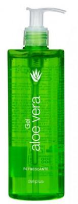 Aloe Vera Gel 390 ml, 100 % natürlich, mit Kamilleextrakt, dermatologisch getestet, Feuchtigkeitspflege für Haut und Haar