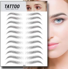 Tattoo Augenbrauen-Aufkleber 4D für Frau & Mann