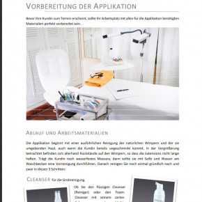 Trainings-Handbuch und Anleitung für semi permanente Wimpern-Verlängerungen