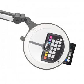 LED Lupenleuchte iQ Magnifier mit 1,75 facher Vergrößerung, 12 Dioptrien Schwenkobjektiv und 60 ultrahellen Tageslicht LEDs