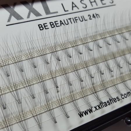 """10 D Volumen Flare Lashes, 60 Stk., knotenfrei, C-Curl, 0,05 mm """"dünn"""", hauchfein - auch """"hot melting lashes"""" genannt"""