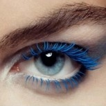 Farbige Wimpern - blau