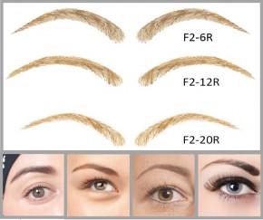 Künstliche, semi-permanente Augenbrauen aus 100 % Echthaar zum Aufkleben - handgemacht