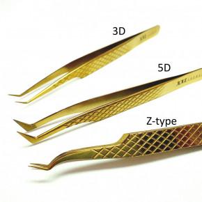 Diamant Tip Präzisions-Pinzetten für Wimpernverlängerung und Volumen-Technik - Z Typ