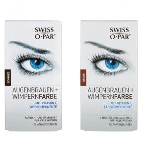 Augenbrauen- und Wimpern-Farbe 2.0 von Swiss o-Par, wasserfest, farbecht