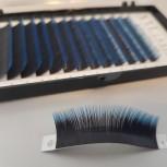 Mink-Lashes, 2-farbig, am Ansatz tiefschwarz, mit blauer oder grüner Spitze