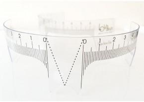 Augenbrauen-Lineal, wiederverwendbar - zum Vorzeichnen und Positionieren von Augenbrauen