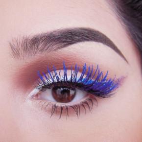 Blaue und grüne Mascara, wasserlöslich, Wimperntusche in schickem Design, daher für Wimpernverlängerungen geeignet